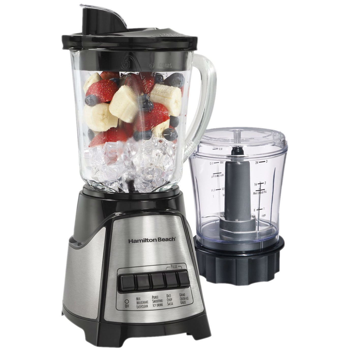 This 700-Watt Countertop Blender Food Chopper with Stainless Steel Blades would be a great addition to your home. Revolutionary Wave-Action system continuously pulls mixture down into the blades for smooth results every time.