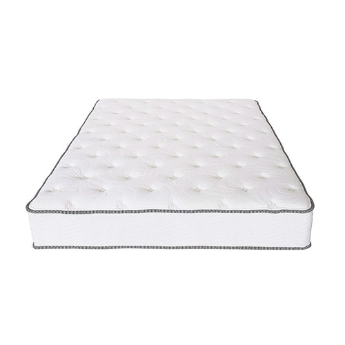 This King size 10-inch Innerspring Mattress with Coll Gel Memory Foam Top is designed to satisfy the need for contoured support of your vertebrae while you sleep. We owe this luxury to the tempered steel independently-encased coils whose particularity is to conform to the curves of your body creating an equal weight distribution, hence relieving any pressure points along your neck, shoulders, back and hips. Another advantage of independently-encased coils is the elimination of motion disturbance, so that if your partner moves throughout the night, you will never even know they are there. To ensure that this mattress lasts many years, its coils are protected by multi HD and memory foam layers which add to unparalleled quality and incredible comfort.