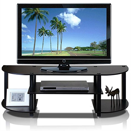 This Espresso & Black TV Stand Entertainment Center - Fits up to 42-inch TV design's motto is: fits in your space and fits on your budget. This series of product consists of the following features: (1) Unique Structure: Open display rack, shelves provide easy storage and display of TV or other audio/video accessories. Suitable for any rooms. Designed to meet the demand of low cost but durable and efficient furniture. (2) Smart Design: Easy Assembly and No tools required. A smart design that uses durable recycled PVC tubes and engineered particleboard that withstand heavy weight. Just repeat the twist, turn and stack mechanism and the whole unit can be assembled within 10 minutes. Experience the fun of D-I-Y, even with your kids . (3) The Particleboard is manufactured in Malaysia and comply with the green rules of production. There is no foul smell, durable and the material is the most stable amongst the particleboards. The PVC tube is made from recycled plastic and is tested for its durability. All the products are produced and assembled 100-percent in Malaysia with 95% - 100% recycled materials. Care instructions: wipe clean with clean damped cloth. Avoid using harsh chemicals. Pictures are for illustration purpose. All decor items are not included in this offer.