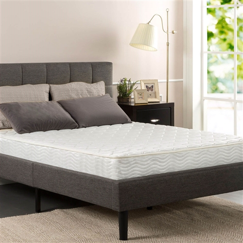 This Twin size 6-inch Thick Comfort Firm Bonnel Spring Mattress is just the right mattress for growing children or young adults. This quilted tight top mattress is great for bunk beds, day beds and trundle beds. The Twin size 6-inch Thick Comfort Firm Bonnel Spring Mattress is made from heavy gauge steel coils to provide firm support. The top is quilted with layers of fiber padding and foam for comfort. Please open your mattress package within 72 hours of receipt and allow 48 hours for your new mattress to return to its original, plush shape.