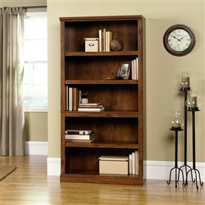 This 5-Shelf Bookcase in Oiled Oak Finish piece the ability to transition into any room of your home. Customizable shelves allow you to tailor the 5-Shelf Bookcase to the needs of your home office or living area.