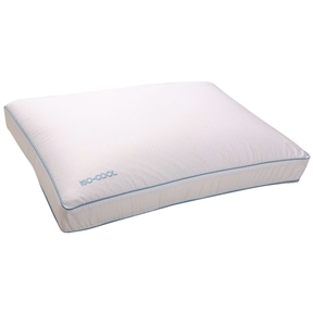 This Side Sleeper Memory Foam Pillow with 100% Cotton Cover - Standard size feature Outlast Adaptive Comfort material that adjusts to the body's changing temperature. The microscopic Phase Change Material (PCM) beads sense whether the body's mean temperature is too warm or too cool. If the body's temperature is too warm, the product absorbs heat and feels cool in order to regulate body temperature. If the body's temperature is too cool, the product releases heat and feels warm in order to regulate the body temperature. These products feature the highest available concentration of PCMs, making them extremely effective. Iso Cool pillows are available in two luxurious and supportive fills: spiral-spun polyester and visco-elastic foam. The mattress topper is available as a polyester cover or as a 3-inch, high-density visco-elastic foam mattress pad with a polyester cover.