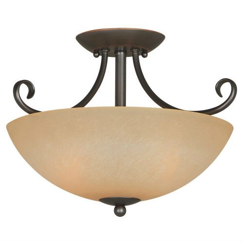 Sophisticated and coordinated, this Ceiling Light Fixture 14.5 x 10-inch Classic Bronze with Amber Glass brings style and elegance to your home. With lights made of warm amber-colored glass, and hardware brushed with an oil-rubbed bronze finish, Berkshire fixtures are versatile enough to complement both classic and modern furnishings. And because all necessary mounting hardware is included with each fixture, installation is quick and easy.