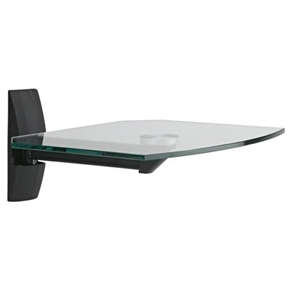 This Tempered Glass Wall Shelf for Audio Video DVD Nettop Cable Box etc is designed to hold a cable box, DVD player or most any other component that needs to be located next to a mounted television. The ECS shelf is made with 8mm tempered glass, an the wall plate hides bolts, for a clean, modern look. The wall plate features integrated cable management, for concealing messy cabling.