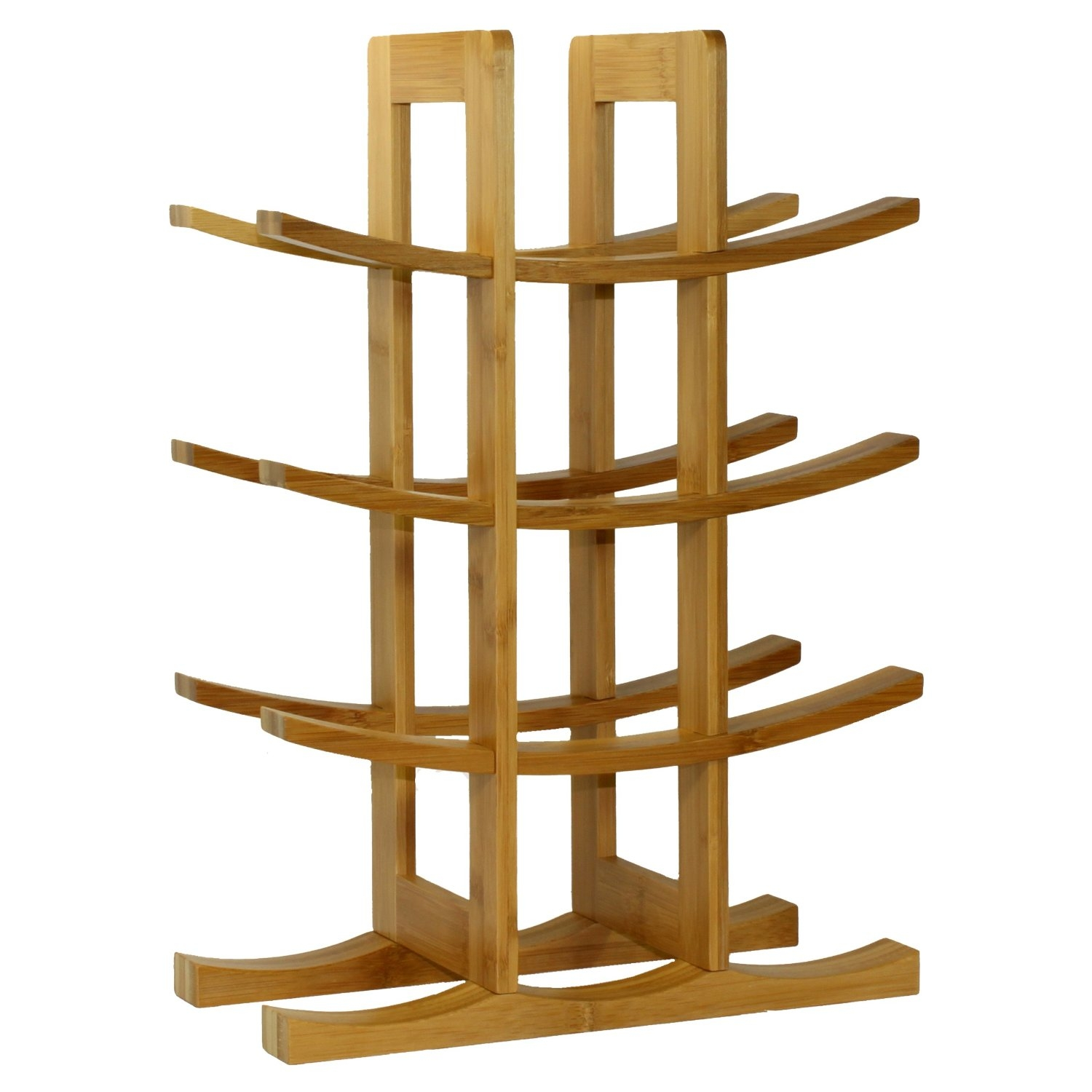 Made with 100% bamboo, this 12-Bottle Wine Rack Modern Asian Style in Natural Bamboo is the ideal fit for wine enthusiasts or starters beginning their wine collection. Present this wine rack to someone special or as a wonderful housewarming and Christmas gift. Its modern design is the perfect complement to any home and counter top. Your house guests will surely be impressed by the beautiful display of your collection. Wine bottle is not included.