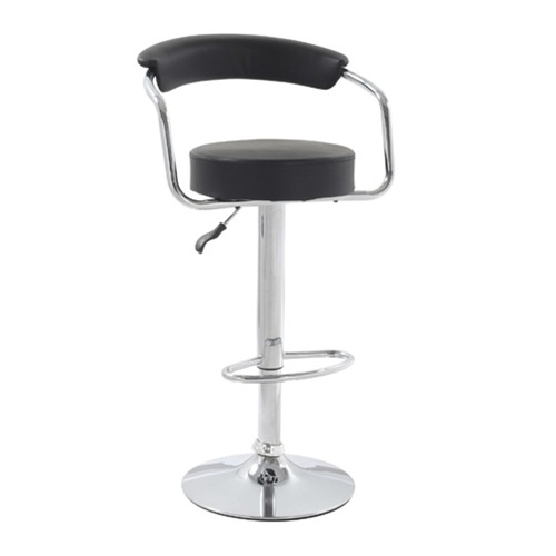 This Modern Classic Smart Bar Stool Chair with Leatherette Seat & Back is a swivel chair the base is heavy chrome with height adjustable.