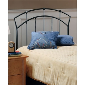 This Twin size Arch Metal Headboard with Rope Wire Detail has a perfect rainbow shaped arch at the headboard. The headboard has a distinguished finish which combines brilliantly with modern craftsmanship and old world charm. Dust frequently using a clean, specially treated dusting cloth that will attract and hold dust particles. Do not use liquid or abrasive cleaners as they may damage the finish.