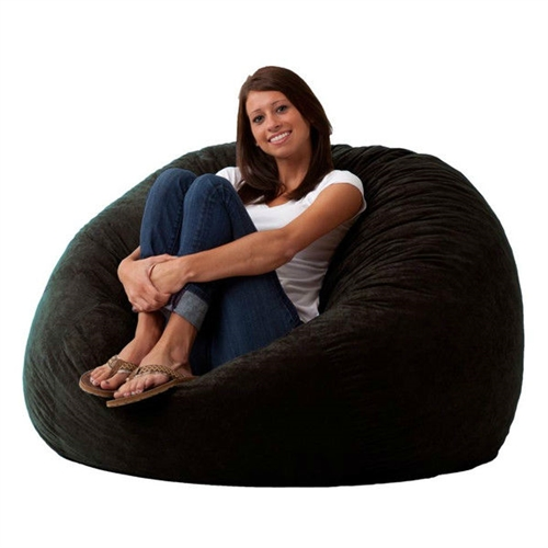 Bury yourself in this Black 4-Foot Memory Foam Bean Bag Chair Bedroom Living Room Dorm Lounge to experience ultimate comfort. It features a soft filling that offers support as well as optimum comfort. The soft suede fabric covering of this bean bag not only feels soft to the skin, but also enhances the decor in your home, letting you choose the one that is best suited to match the color scheme in your home. The filling and the fabric covering of this chair make it long lasting. The Black 4-Foot Memory Foam Bean Bag Chair Bedroom Living Room Dorm Lounge can be spot cleaned as and when required to maintain its original appearance for a long time.