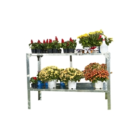 Outdoor Metal Shelving Unit Garden Potting Bench in Sturdy Galvanized Steel, MSPB89915 :  This Outdoor Metal Shelving Unit Garden Potting Bench in Sturdy Galvanized Steel is perfectly sized to fit inside our hobby greenhouses to help you create a well organized growing space. Easy to clean and use for many years to come; Shelving system 2 level; Product Type: Includes Shelves; Material: Steel; Country of Manufacture: Israel.