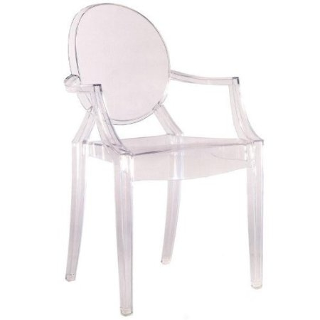 This Clear Stacking Acrylic Arm Chair - Indoor or Outdoor Dining Chair would be a great addition to your home. In spite of the evenescent and crystaline impression, strong resistant to blows, scratchproof and weatherproof; as many as six peices can be piled up. With a strongly charismatic charcter and outstanding aesthetic appeal.