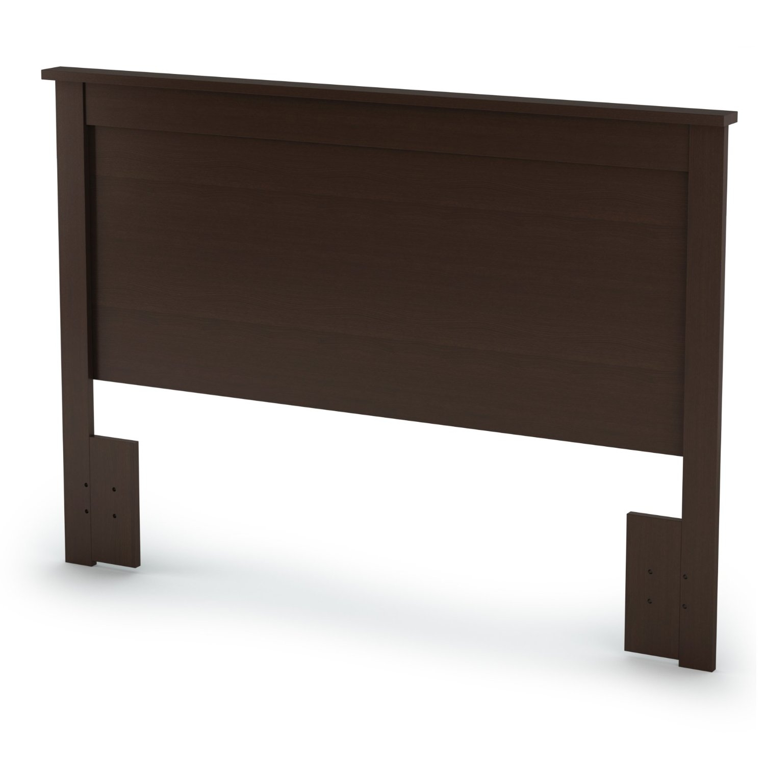 This Full / Queen size Headboard in Chocolate Finish - Eco-Friendly has simple and elegant lines. This headboard is made of recycled CARB compliant particle panels. It has to be assembled by two adults. Measures 65-Inch wide by 3-Inch deep by 46-Inch high. This headboard is delivered in one box measuring 69-Inch by 24-Inch by 4-Inch and weights 41 pounds. Straight transitional lines.