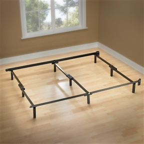 "This Twin Metal Bed Frame with 6 Support Legs and Headboard Brackets is more than just ""compact"" and easy to set-up, the construction is uniquely designed for optimum support and durability. The center bar support and 6-leg construction on the twin-size frame are unique to the Compact Bed Frame providing stability and support. This bed frame is a no-tools assembly frame and can set-up in four simple steps. Each support bar features a quick lock system. The 6 support legs simply fold out when assembling and are slightly recessed for safety and help prevent hitting your toes when making the bed. The product packaging allows for convenient FedEx/UPS shipping."