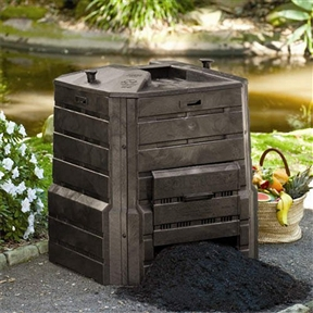 """Home Garden Composter - 86 Gallon Compost Bin with Locking Self-Watering Lid, APS799615 :  This Home Garden Composter - 86 Gallon Compost Bin with Locking Self-Watering Lid Saves Money by Reducing Curbside pickup and Landfill Waste. It produces Nutrient Rich organic Soil for Healthier Plants and Gardens. Now you can help the environment while also helping your family save money with the SoilSaver. Soil produced is natures' own fertilizer and Soil Conditioner. This Composter Includes a Locking Self-Watering Lid, 100% Recycled Material, Military grade Rugged Construction, 2 Sliding Doors, openings for aeration and a free composting Guide, """"A Sense of Humus.""""   Produce rich organic dark compost humus in 6 to 8 weeks from food scraps, kitchen and garden waste; Save up to 30% of household waste while saving money on applicable curbside pickup costs; Made from 100% recycled environmentally-friendly material. Locking Self-Watering Lid keeps animals out while openings allow air to move through composter to speed up the composting process; Large opening makes for easy access and Two sliding doors make removal of compost simple and convenient. Robust thickness and construction helps produce and insulate heat which helps the micro-organisms breakdown waste to produce nutrient rich soil."""