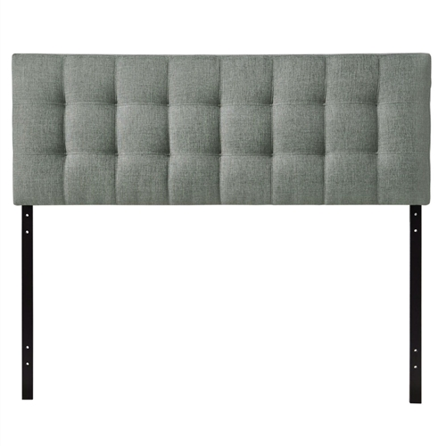 "Introduce some boxy pizazz with the lavish design of this King size Grey Fabric Modern Button-Tufted Upholstered Headboard. Intended to be versatile for a wide range of modern bed styles, it's deep button tufting, and carefully aligned trim, present a uniform piece meant to cast prominence upon your room. Fully upholstered in padded fabric, it has a narrow piece meant to convey a strong sense of expansiveness within your entire surroundings. Set Includes: One - Headboard Product Dimensions: Overall Product Dimensions: 3.5""L x 61.5""W x 22.5""H Bedframe Mounting Location: 4.5 - 8.5""H Mounting Location A - Height to Top of Headboard: 52.5""H Mounting Location A - Height to Bottom of Headboard: 30.5""H Mounting Location B - Height to Top of Headboard: 50""H Mounting Location B - Height to Bottom of Headboard: 28""H Mounting Location C - Height to Top of Headboard: 47.5""H Mounting Location C - Height to Bottom of Headboard: 25.5""H Mounting Location D - Height to Top of Headboard: 45""H Mounting Location D - Height to Bottom of Headboard: 23""H Floor to Top of Headboard: 45.5 - 53""H Floor to Bottom of Headboard: 23 - 30.5""H."