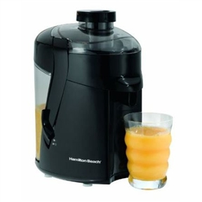 This Hamilton Beach Juice Extractor Juicer in Black will be a great addition to your home. It has a Large, easy-to-remove pulp bin and a Powerful 400-watt motor.