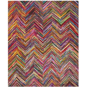 3' x 5' Abstract Chevron Pink Multi-Color Chevron Cotton Rug, SNPR772635 :  This 3' x 5' Abstract Chevron Pink Multi-Color Chevron Cotton Rug would be a great addition to your home. It is made of cotton material and is manufactured in India. Professional cleaning recommended.