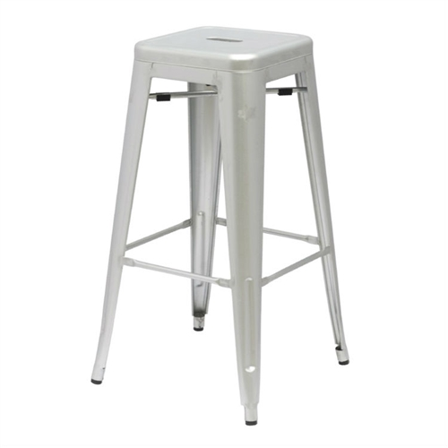 More than three quarters of a century later, this Modern Stacking Bar Stool in Gunmetal Galvanized Steel Stackable Indoor Outdoor Barstool adopts a new look. A versatile stool that is comfortable and great for use in any location whether indoors or outdoors. Stools are stackable for easy storage.