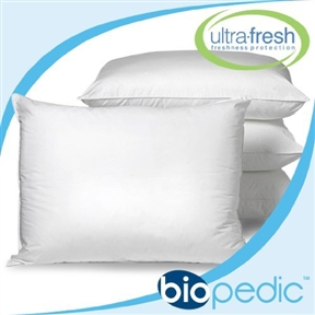 These Set of 4 - Standard size Machine Washable Pillows - Made in USA have SofLoft fill that is treated with UltraFresh from Thompson. Research. These standard-sized pillows measure 20-inches by 26-inches and are machine washable, tumble dry! Great as sham stuffers or for the guest room. Great replacement pillows