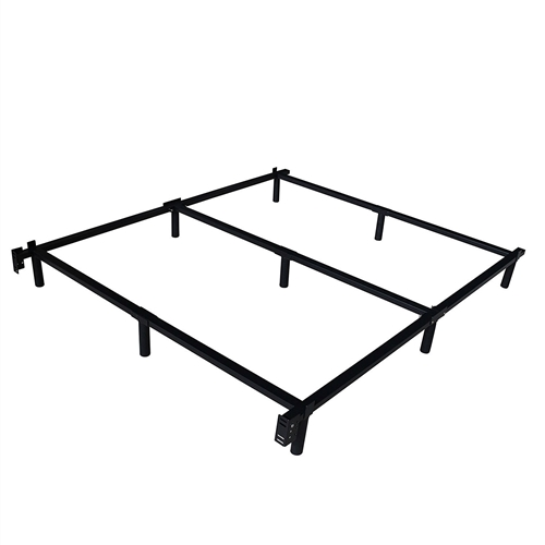 This Twin XL Heavy Duty Metal Bed Frame with Headboard Brackets has an easy-to-set-up base, uniquely designed for optimum support and durability. This bed fame adjusts to provide a sturdy foundation. Visionary design - the center bar support and multiple leg construction ensures superior stability. Low-stress, easy assembly - this bed frame assembles in a few simple steps. Our bed frame is made of steel tube instead of channel steel compared to our similar kinds. This unique design increases our supporting capacity 70% higher. Manageable packing, easy to assemble box spring enables users upstairs and downstairs with no pressure.