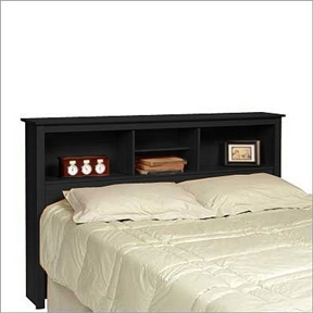 Designed to fit either a double or queen bed, this Queen-size Storage Headboard in Black Finish has three compartments which provide ample space for bedside reading material, clocks etc. The central compartment also has an adjustable shelf. All it needs is a double or queen bed frame and the bed! Constructed from a combination of high quality, laminated composite woods, with attractive profiled MDF top and moldings.