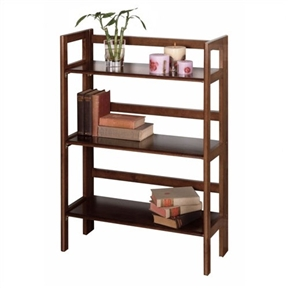 Classic and versatile, this 3-Shelf Stackable Folding Bookcase in Distressed Walnut Finish offers a refreshing alternative to home decor. With a folding and collapsible feature, this bookshelf comes in three finishes to match any decor. Add this fabulous bookshelf to your home to add a subtle and contemporary update to your home.