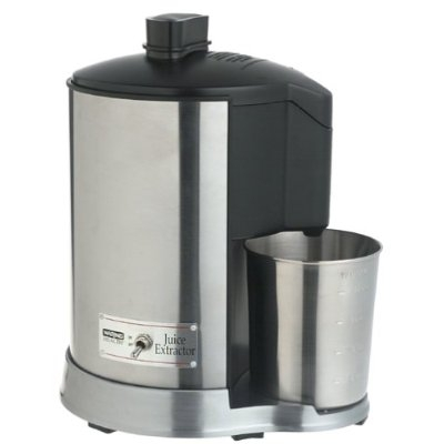This Stainless Steel Housing Dishwasher Safe Electric Juicer lets you get the most out of your favorite fruits and vegetables. Ideal for today''s fast and healthy lifestyles, the Juice Extractor is engineered to make the process easy. More juice is extracted from less produce, leaving only dry pulp in the Pulp Collector. That means no mess while processing, and quick and easy cleanups. An extra wide feed tube minimizes preparation time, and the convenient ON/OFF toggle switch is simple to use. The efficient metal design has fewer parts to clean, is easy to assemble, and makes this attractive machine a pleasure to own and operate. Drink to your good health, with Waring.