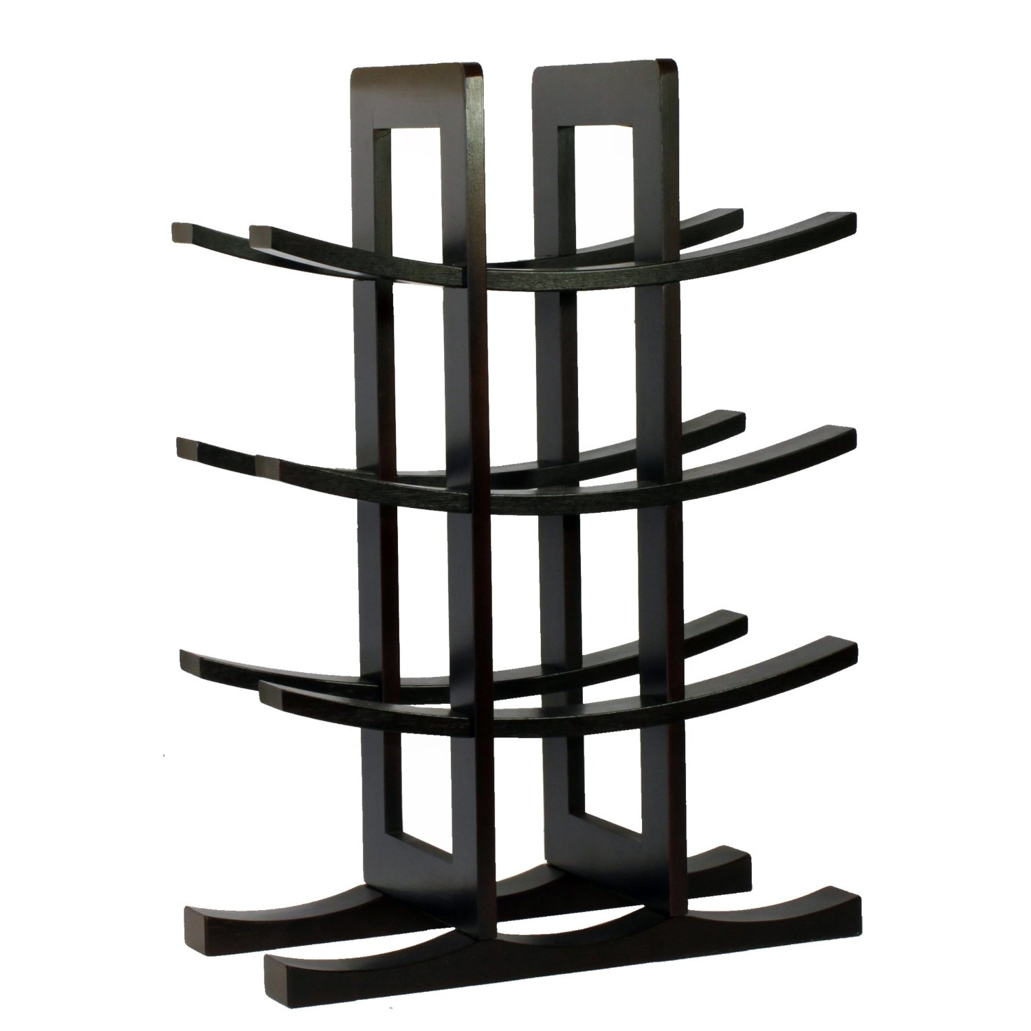 Made with 100% bamboo, this 12-Bottle Wine Rack in Dark Espresso Finish Bamboo is the ideal fit for wine enthusiasts or starters beginning their wine collection. Present this wine rack to someone special or as a wonderful housewarming and Christmas gift. Its modern design is the perfect complement to any home and counter top. Your house guests will surely be impressed by the beautiful display of your collection. Wine bottle is not included.