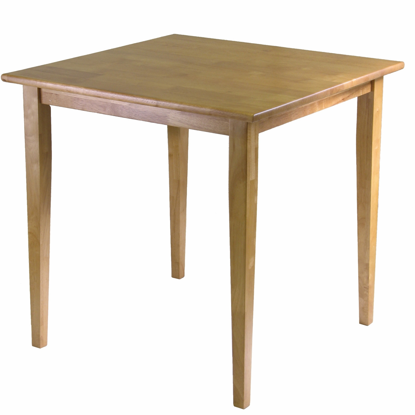 This Solid Wood Shaker Style Square Dining Table in Light Oak Finish would be a great addition to your home. It has a shaker style and a solid wood construction. Top Material: Wood; Top Material Details: Beech; Base Material: Manufactured wood, Wood; Hardware Material: Metal; Solid Wood Construction: Yes.