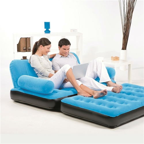 Perfect anywhere and super fast to set up. Blue Inflatable Indoor/Outdoor Muti Purpose Sofa Couch Bed Lounge w/ Air Pump