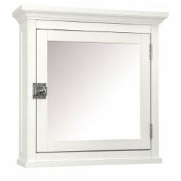 Classic White Bathroom Medicine Cabinet with Mirror, CMC5921 :  This Classic White Bathroom Medicine Cabinet with Mirror adds an attractive storage space to any bathroom. Also, it provides much-needed room.  Classique medicine cabinet includes a mirrored door; Piece is made of sturdy MDF.