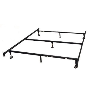 Heavy Duty 7-Leg Metal Bed Frame / Adjust to fit Twin, Full, & Queen, HD7LAFQTBF :  This Heavy Duty 7-Leg Metal Bed Frame / Adjust to fit Twin, Full, & Queen it features solid steel metal Frame that will give excellent support to your mattress and headboard. Easy to move, constructed with wheels, The Screws that attach the Bed frame to headboard are not included.