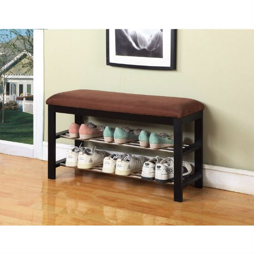 Hallway Entry Bedroom Storage Bench Shoe Rack Organizer, KBHB67501 :  This Hallway Entry Bedroom Storage Bench Shoe Rack Organizer would be a great addition to your home. Can be used as a shoe organizer, bedroom and hall way bench with microfiber fabric.