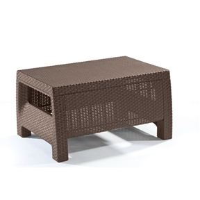 Modern Patio Table Ottoman in Brown Outdoor Weather Resistant Plastic Rattan, KCPT694151 :  Including plastic chairs and tables, is the ideal solution. This Modern Patio Table Ottoman in Brown Outdoor Weather Resistant Plastic Rattan has been designed in a rattan style, making it just as attractive as traditional rattan outdoor furniture while being stronger, easier to clean and waterproof.