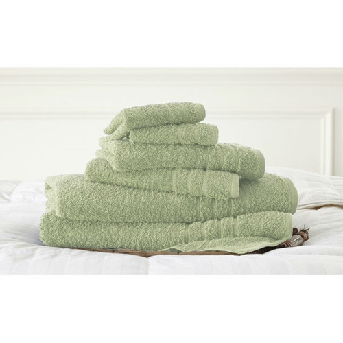 Jade Green 6-Piece Bath Towel Set in 100% Cotton, JG51968451 :  Indulge yourself in spa like luxury with this Jade Green 6-Piece Bath Towel Set in 100% Cotton. The set is made of cotton known for its softness, absorbency, and durability. These towels make an ideal complement to any bathroom whether you use it to pamper yourself or reserve it for special guests. Cotton fibers are valued for their superior length and strength, which also reduces the buildup of pile and lint. These towels will feel cozy and comfortable against your skin every time you use them. Additionally the towels get softer with washing and drying. Added absorbency and durability; Low-twist loops for soft texture; Pattern: Solid; Quick Dry: Yes; Recommended Cleaning Method: Machine wash; Fabric Weight: 500 Grams per Square Meter (GSM) [Fabric Weight]; Country of Manufacture: India.
