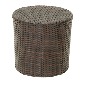 Round Brown Wicker Resin Side Table for Outdoor or Patio, WPTR5418569 :  This Round Brown Wicker Resin Side Table for Outdoor or Patio is stylish and convenient for your outdoor needs. With its contemporary shape, you can place it near your seating area to place snacks and beverages, or even use it as a stand for your garden. Made of environment-friendly synthetic wicker you will find many uses for this table. Both stylish and durable; Sturdy construction; Neutral colors to match any outdoor decor.