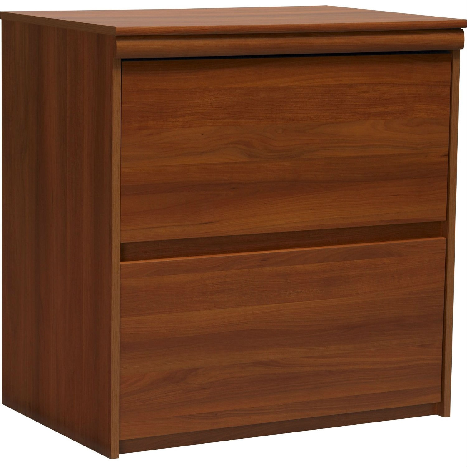 Need a place for all your files, receipts, bills and other documents? Keep them neatly tucked away inside this attractive file cabinet. This 2-Drawer Lateral File Cabinet in Contemporary Plum Finish features two large drawers, offering ample room for files and folders. The drawers accommodate both letter and legal-sized hanging files. The large surface of the file cabinet also makes a great spot to place a printer, additional supplies, picture frames or other decorative items. Dressed in a warm Expert Plum finish, the 2-Drawer File Cabinet complements virtually any décor at home or in the office. Place it in any space to keep your important files organized and concealed. Easy to assemble with household tools. Made in USA.