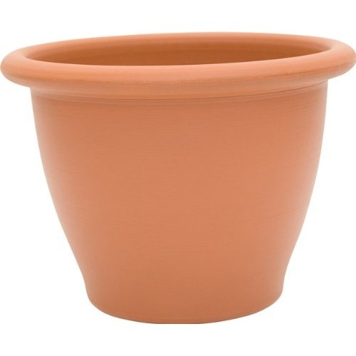 9-inch Snap-Fit Poly Planter in Dark Terra Cotta, DDTSFP854 :  This 9-inch Snap-Fit Poly Planter in Dark Terra Cotta are perfect for the home, garden, patio and balcony. They are durable, have effective drainage, and won't chip or crack due to changes in temperature. Toscana Planters have an affordable, unique patented Snap-Fit Rim design for an upscale finished appearance and added strength.