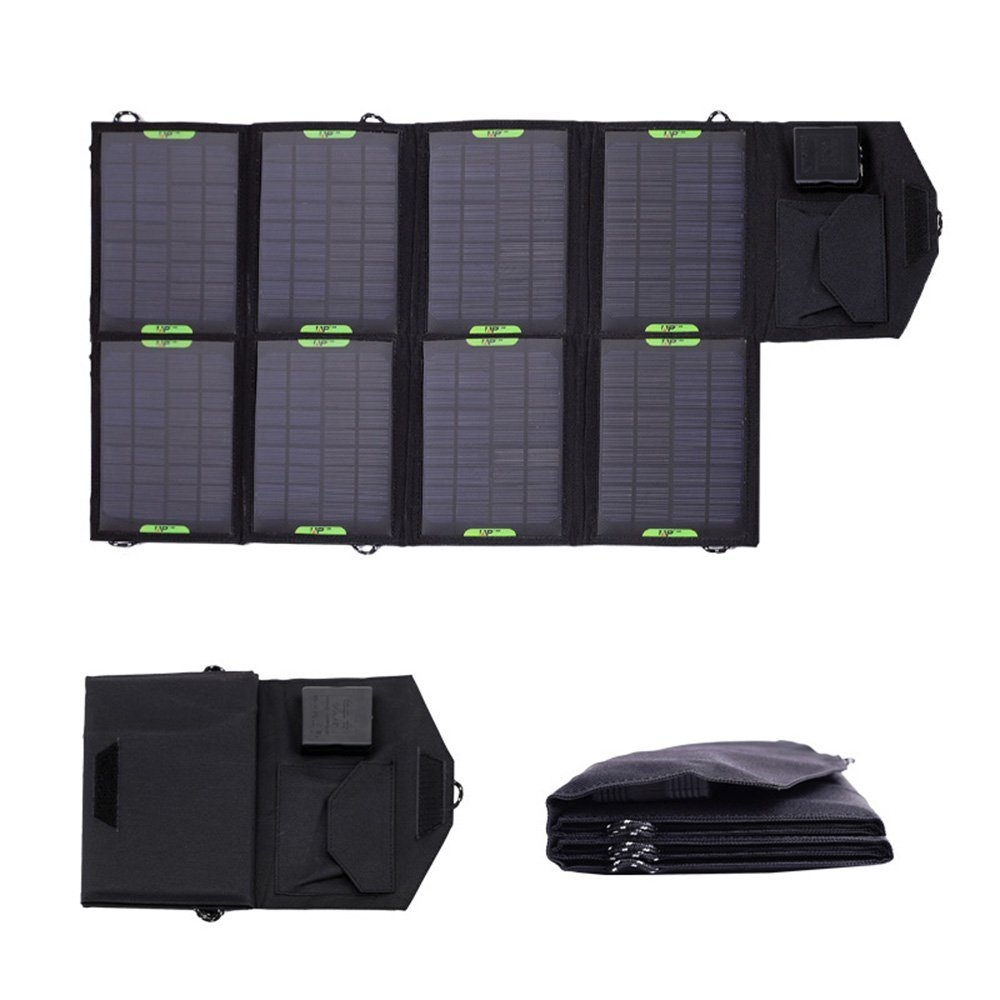 28 Watt Foldable 18V Solar Panel Phone Laptop Tablet Battery Charger, PFSBC12495 :  This 28 Watt Foldable 18V Solar Panel Phone Laptop Tablet Battery Charger allows you to charge the external battery anywhere at any time. This product is a multifunctional solar charger with dual output(5V&9V~18V), which can charge for 18V products, 12V battery and 5V USB devices, Laptop, Tablet, ipad, ipod, iphone, Blackberry, Samsung, PDA, MP3, MP4, digital camera, video camera, PSP video games, blue-tooth headset, etc.  Output: 18V*1555mA/5.5V*5090mA; Double output interface: USB2.0& DC5521; Material: PET laminated, PVC waterproof fabric; Folding Solar Panel are light weight, portable and rugged; Compact folding fabric case; Water Resistant design; Dual Output: a. Standard USB output fit for Mobile device / b. Dc5521 output for Laptops; Solar energy and efficient solar charger circiut; Environmental protection and energy inexhaustible; Portable and frame design fit for outdoor and indoor use.