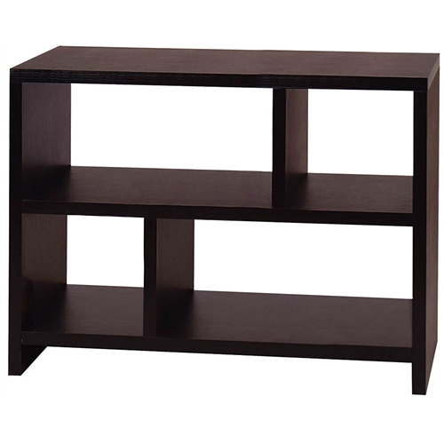 The modern design of this Modern 2-Shelf Bookcase Console Table in Black Wood Finish will complete the look of the contemporary home. The Modern 2-Shelf Bookcase Console Table in Black Wood Finish is perfect for storage and display. Convenience Concepts brings you exciting and affordable furniture. Combining exciting designs with economical overseas manufacturing to bring you the finest in sensible contemporary furniture. Focusing on R-T-A Entertainment, TV, Storage, and Accent furniture.