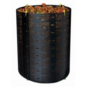 Geo-Bin Composting System with Ventilating Holes, PPG6CS3094 :  This Geo-Bin Composting System with Ventilating Holes is a low-cost, easy-solution to your yard waste problem. It replaces the unsightly pile in your backyard with an attractive, functional container. This adjustable bin will hold over 14 bushels of perfect composting ingredients. Geobin can take grass clippings and leaves and turn them into a rich soil conditioner for use in your gardens. The Geobin is easy to assemble, easy to fill, and easy to maintain. It is made of rugged, lightweight plastic that you can start using in minutes. Due to the generous number of air holes and open top, the composting process takes place very quickly. Don't let the simple appearance fool you; this is a hard working tool that should be in every backyard. Retains heat and moisture for faster decomposing; Adjustable to over 3-feet in diameter holds compost neatly in place; Creates rich garden soil helps reduce landfill waste; Fast and easy to assemble.