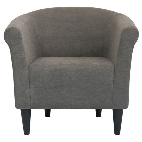 Classic style elements with a contemporary twist make this Graphite Grey Modern Classic Upholstered Accent Arm Chair Club Chair a great addition to almost any room. The chair is made with quality, comfort and modern style in mind. Embellish your room with the clean lines and contemporary materials. Durable construction; Made in the USA; Upholstered with a soft tweed fabric; Chair Design: Club chair; Style: Modern; Upholstery Material: Polyester/Polyester blend; Leg Material: Plastic; Weight Capacity: 275 Pounds; Country of Manufacture: United States.