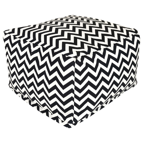 This Black and White Chevron Stripe Bean Bag Chair Ottoman has a beautiful design, which is the perfect addition to the existing home setting, and in the patio, lawn, or garden. The Black and White Chevron Stripe Bean Bag Chair Ottoman has 50-percent recycled polystyrene beads that make it durable and comfortable to use. This ottoman is woven with outdoor treated polyester, which makes it durable and perfect for outdoor use. It has a zig zag pattern and square shape that looks charismatic and adds class to its contemporary style. It is available in multiple colors that give you several options to select your favorite color. It is water-resistant, which makes it perfect to use in all weather conditions. This ottoman is also resistant to fading, rusting, and mildewing. It is equally suited to use this ottoman for indoor, outdoor, and commercial use. It has the capacity to hold weight up to 300 pounds. This stylish and well-designed ottoman is practical to use as a chair, footstool, or side table, and looks attractive as an outdoor ottoman in the patio, lawn, or garden. This stylish ottoman is eco-friendly, which makes it equally suitable for both indoor and outdoor use. It can be machine washed gently with cool water.