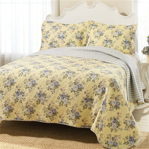 Refresh the master suite or guest room with this lovely bedding, perfect paired with crisp sheets and plush pillows to craft a peaceful retreat. Pattern: Nature/Floral; Reversible: Yes; Textured: Yes; Cleaning Method: Machine washable.
