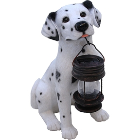 Dalmatian Dog Solar Light Lantern with Super Bright LED, TDWSLL2949 : This Dalmatian Dog Solar Light Lantern with Super Bright LED is fast and easy to install. Also, is ideal for areas where conventional electrical supply is not available. Energy-saving garden lights turn on automatically when it is dark; Fast and easy to install; Recharged by solar panels under sunlight; Super-bright LED for brighter light output; LED bulb never burns out; Up to 10 hours of light when dark; LEDs can last up to 100,000 hours; Rechargeable Ni-Cd AA battery (included);  Batteries are rechargeable and should last for approximately 2 years before replacing; Safe and water resistant; CE certified; Corrosion resistant.