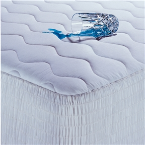 This Queen size 100-Percent Cotton Waterproof Mattress Pad - Hypoallergenic would be a great addition to your home. It has a 200 thread count and is made of 100% cotton. 20'' Expand a grip guaranteed to fit skirt; 100% Waterproof soft laminate back; Machine washable, machine dry; Sleep in comfort with this beauty rest ultimate protection mattress pad; Perfect way to keep your mattress protected. Color: White; Water Resistant: Yes; Stain Resistant: Yes; Mold Resistant: Yes; Bed Size: California King; Full / Double; King; Queen; Twin; Machine Washable: Yes; Quilted: Yes; Fill Material: Polyester; Gender: Unisex/Both; Fitted Sheet Compatible: Yes; Stretch Skirt: Yes; Slip Resistant Skirt: Yes.