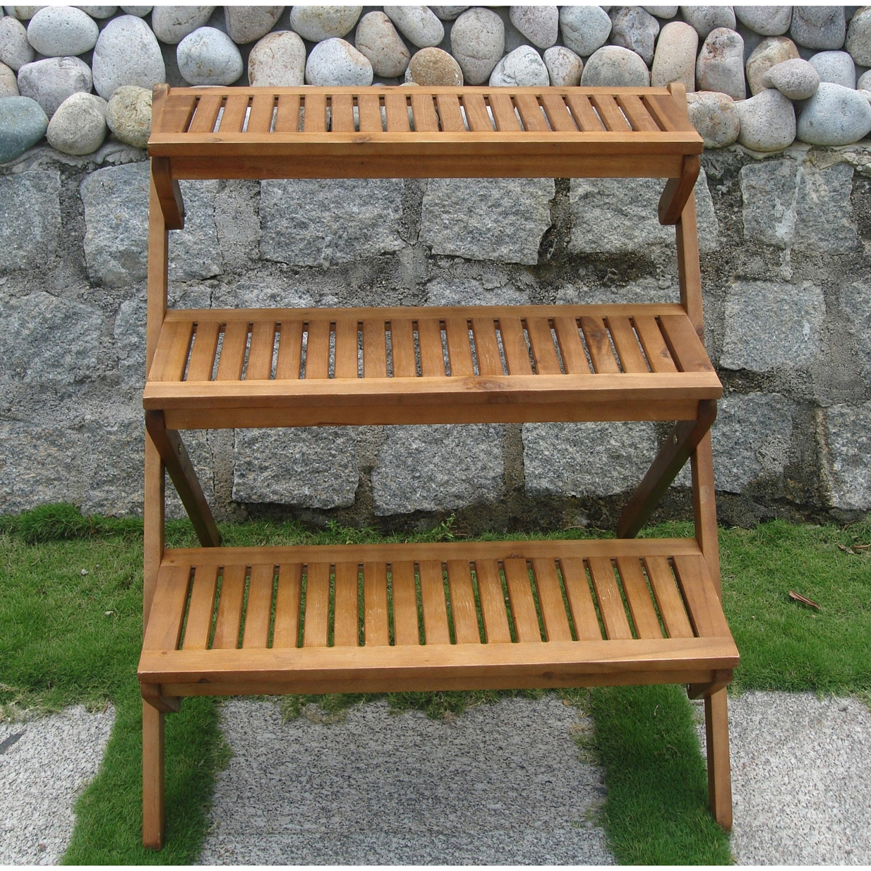 3-Tier Planter Stand in Teak Wood for Outdoor or Indoor Use, T3PS6623 :  This 3-Tier Planter Stand in Teak Wood for Outdoor or Indoor Use would be a great addition to your home. It is made of teak, so it is extremely durable and resistant. Made from teak; Pre-treated, expertly kiln - dried, extremely durable for outdoor/indoor use; Mold, mildew, fungi, termites, rot and decay resistant; Environmentally friendly and harvested from protected forests.
