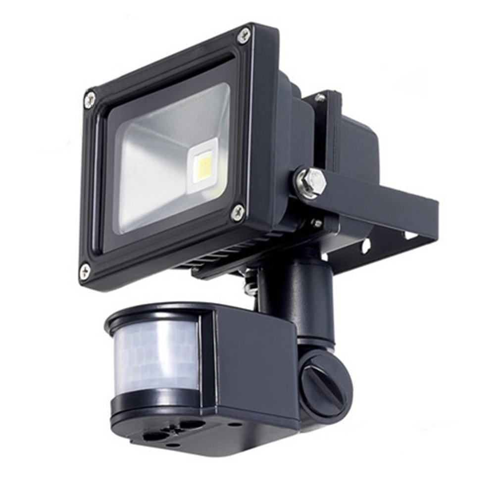 Outdoor LED Floodlight Security Light with Motion Sensor 40-Ft Detection Range, TWLEDF368461 :  This light automatically turns on when motion is detected, making it ideal for remote locations, garages, pathways, sheds, security, and lighting dark areas. We equipped it with a rotation-able sensor to make sure that the light will work no matter mounted by sitting type or mural type. This security flood light uses the latest LED technology, so it has extremely low energy consumption, yet is super bright and powerful. This motion sensor floodlight can also be used as a way to notify that someone is approaching your home and as a way to offer minimal security against intruders. This simple lighting solution is a great way to add safety, convenience to your home. Sensitive infrared sensor, lighting up when there is movement; Operating voltage:85-265V/AC with 10W power consumption; Aluminum die-casting with tempered 5mm transparent high strength glass.