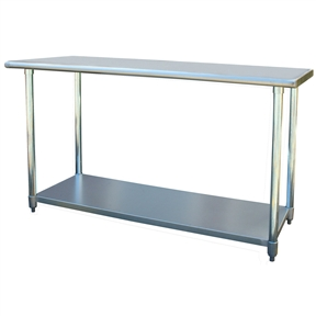 This Contemporary 2Ft x 5Ft Stainless Steel Top Workbench Utility Table is the perfect addition to your kitchen, garage, or basement. Ideal for cooking and working without making your back ache. Attractive contemporary design fits into any decor.