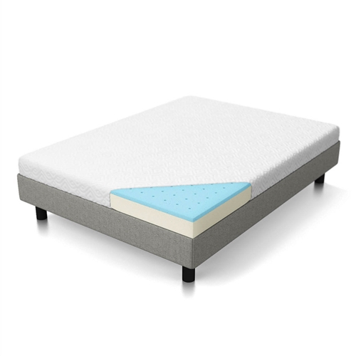 This California King 5-inch Firm Gel Memory Foam Mattress features 100% CertiPUR-US certified memory foam and a 25-year warranty backing its premium materials. With a 1-inch comfort layer of gel-infused cooling memory foam and 4 Inch of supportive base foam, its firm feel quickly conforms to the body to support and relieve pressure. The gel mattress includes a soft, removable cover and is easy to set up. This mattress is delivered in a reusable duffle bag for shipping convenience. The mattress is not designed to be stored in the shipping bag after it has been decompressed.