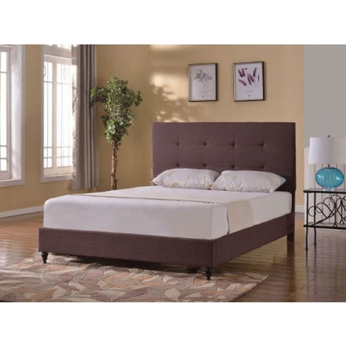 This Twin size Brown Linen Upholstered Platform Bed with Tufted Headboard has a high quality linen construction. With Slats unlike anyone else who sells beds. All you need is a Mattress no bulky box spring to worry about.